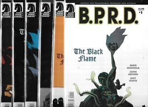 B.P.R.D. THE BLACK FLAME #1-#6 SET (NM-) MIKE MIGNOLA, DARK HORSE COMICS