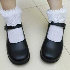 Lolita Round Toe Women Cosplay Maid Shoes School Mary Janes Flats Oxfords Vogue