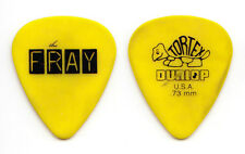 The Fray Dave Welsh Concert-Used Yellow Guitar Pick - 2012 Tour