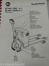 Ersatzteilbuch BT Elektro Deichselstapler PPT1250 /1250E Ser. 5 ab 177315