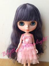 Takara 12'' Blythe Doll Neo Doll Long Grey Hair Four Eye Chips For Custom Blythe
