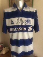 "Vintage QPR Queens Park Rangers 1997 Signed Football Shirt Size 42-44"""
