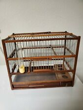 Amazing Wooden Hand Crafted Bird Cage; Slide Out Tray, Plexiglas.