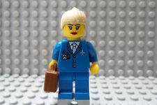 LEGO Female Girl Airline Pilot Blue Suit Blond Hair Classic Town City Airport