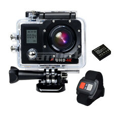 HD 4K Dual LCD WiFi Sports Action Camera Sony IMX179 Camcorder w/ Remote Control