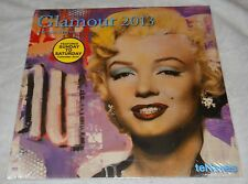 GLAMOUR 2013 COLLECTABLE CALENDAR, IMAGES OF MONROE, JACKIE O., SINATRA & MORE!