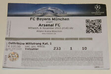 Ticket for collectors CL Bayern Munchen Arsenal FC 2015 Germany England