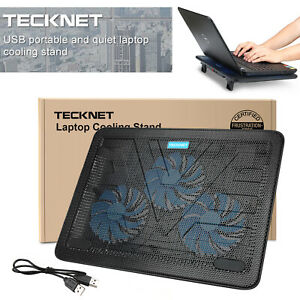 "TeckNet 12""-17"" Quiet Laptop Cooler Cooling Pad Stand With 3 USB Powered Fans UK"