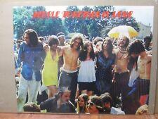 Vintage 1970 Woodstock Poster People Together is LOVE  inv#G161