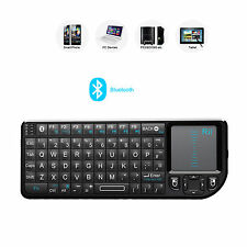 Rii K02+ bluetooth BT keyboard with touchpad backlit for  PC pad Notbook