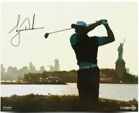 "TIGER WOODS Autographed ""Lady Liberty"" 16 x 20 Photograph UDA LE 100"