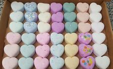 Handmade mini bath bomb hearts bundle  42 variety of  scents colours
