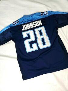 Tennessee Titans Chris Johnson Jersey SEWN Reebok Shirt #28 sz 52