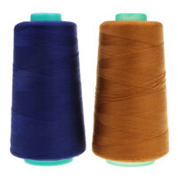 2 Color Spool Polyester Jeans Sewing Thread for Sewing Machine 20S/2