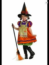 ORANGE WITCH HALLOWEEN COSTUME  Rubie's GIRLS SIZE 12-14 - 8 to 10 Years Old