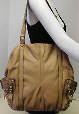 Hype Genuine Leather Carmel Brown Shoulder Bag Handbag Purse Tote