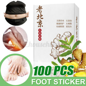 100Pcs Fusspflaster Detox Foot Patches Pads Vitalpflaster Entgiftung Fußpflaster