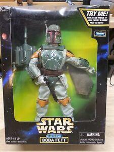 "Star Wars Boba Fett Talking Electronic 12"" Figure NEW Sealed"