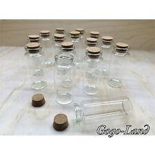 24 Mini Glass Bottles Destination Beach Wedding Fillable Favor Sand 3 Inch Clear