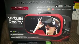 Tzumi Dream Vision Virtual Reality Headset iOS, Android Black VR