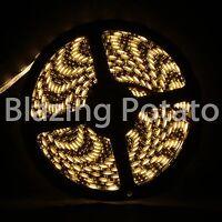 LumenWave 5M 5050 IP65 Waterproof Flexible LED Strip Lights -Black PCB-WarmWhite