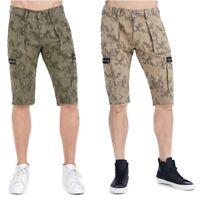 True Religion Men's Moto Cargo Camo Shorts