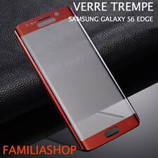 Tempered Glass Film Integral Total Curved Samsung Galaxy S6 Edge Red