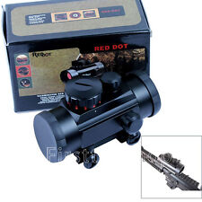 Tactical Laser Sight Scope 1x30RD Red Green Dot Illuminated 5 MOA+Weaver Mounts