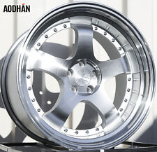 AODHAN AH03 17x9 5x100 / 5x114.3 +25 Silver(PAIR) fitments to work on most cars!