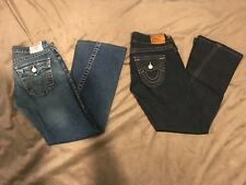 LOT of 2 True Religion jeans size 28 pre-owned