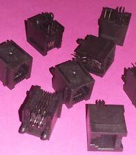 8x org. Amphenol RJ11 Netzwerk Buchse PCB Print Montage FCI Ethernet Industrie