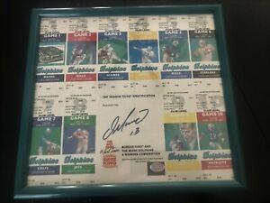 Dan Marino Signed 1987 Uncut Season Ticket Auto Rare Miami Dolphins DM Hologram