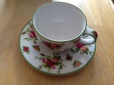Royal Albert Old Country Roses Casual Classics CUP & SAUCER Green Trim 1999 5271