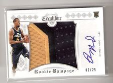 Rodney Hood 14/15 Excalibur Rookie Rampage Auto Patch RC Rookie #33 SN#02/25