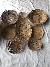 New ListingSet of 8 Vintage Wicker Lot of Baskets Boho Farmhouse Rattan Wall Art Decor #1