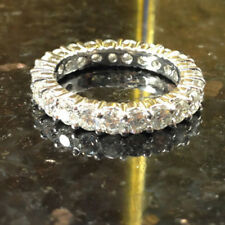 2.00Ct Diamond Eternity Band Hallmarked 14K White Gold Engagement Ring Size 7