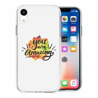 For Apple iPhone XR Silicone Case Uplifting Quote Saying - S382