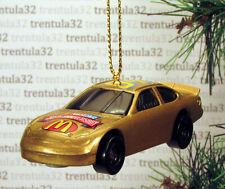 NASCAR 50th Anniversary McDonalds Race Car Gold racing CHRISTMAS TREE ORNAMENT