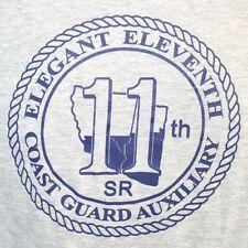Coast Guard Auxiliary Elegant Eleventh 11th SR T-shirt Tee M Medium Gray USCG