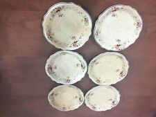 Homer Laughlin Virginia Rose Collection Saucers (6)
