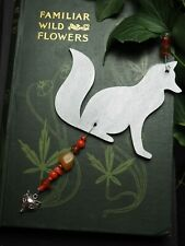 Silver Fox Yule Decoration - Pagan, Wicca, Winter Solstice, Christmas, wood