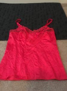 Vanity Fair Women's Intimate Camisole Slip Top Sz 34 Red
