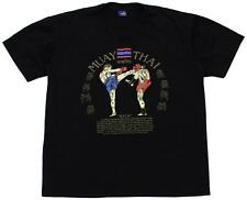 Muay Thai T-Shirt Black Kick Graphics Instructions Team Two Mens Size Large
