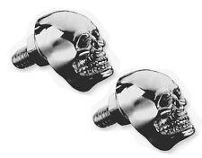 2 Boulon écrou vis tête de mort Skull Chrome yeux Noir moto custom trike