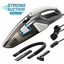 Car Vacuum Cleaner 12V - High Power Portable Hand With Led Light 120 W Corded 3