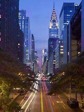 PHOTOGRAPH CITYSCAPE CHRYSLER BUILDING 42ND STREET NEW YORK USA POSTER LV10668
