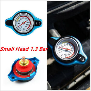 Blue Small Head 1.3 Bar Thermost Radiator Cap Cover Water Temperature Gauge NEW