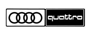 AUDI QUATTRO Sticker  RS3 RS4 S2 S3 S4 1.8T A2 A3 A4 A5 A6 Mudflaps 220mm x 4