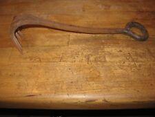 Antique, hand forged nail rake