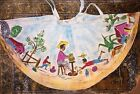 Vintage Full Circle Skirt Made In Mexico For Tel Art Hand painted Washable 100%